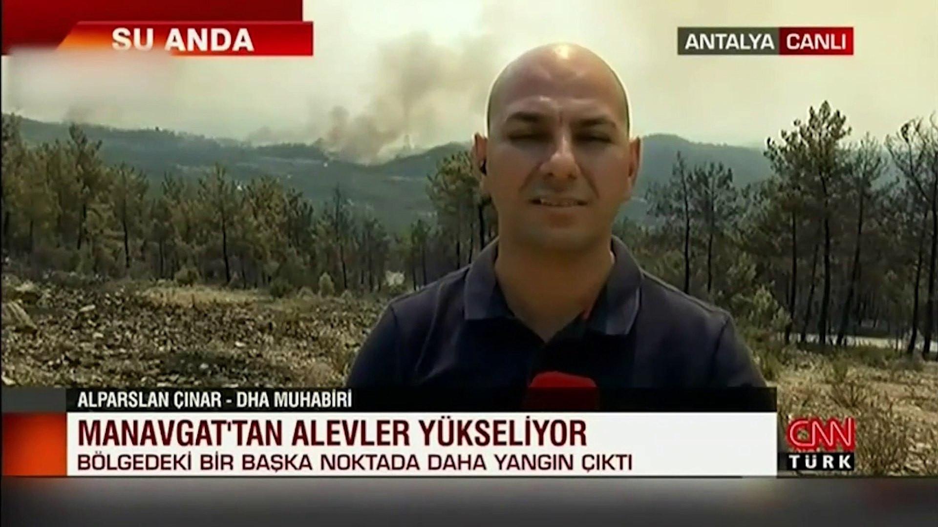 Manavgat'ta bir orman yangını daha... Alevler yükseliyor!