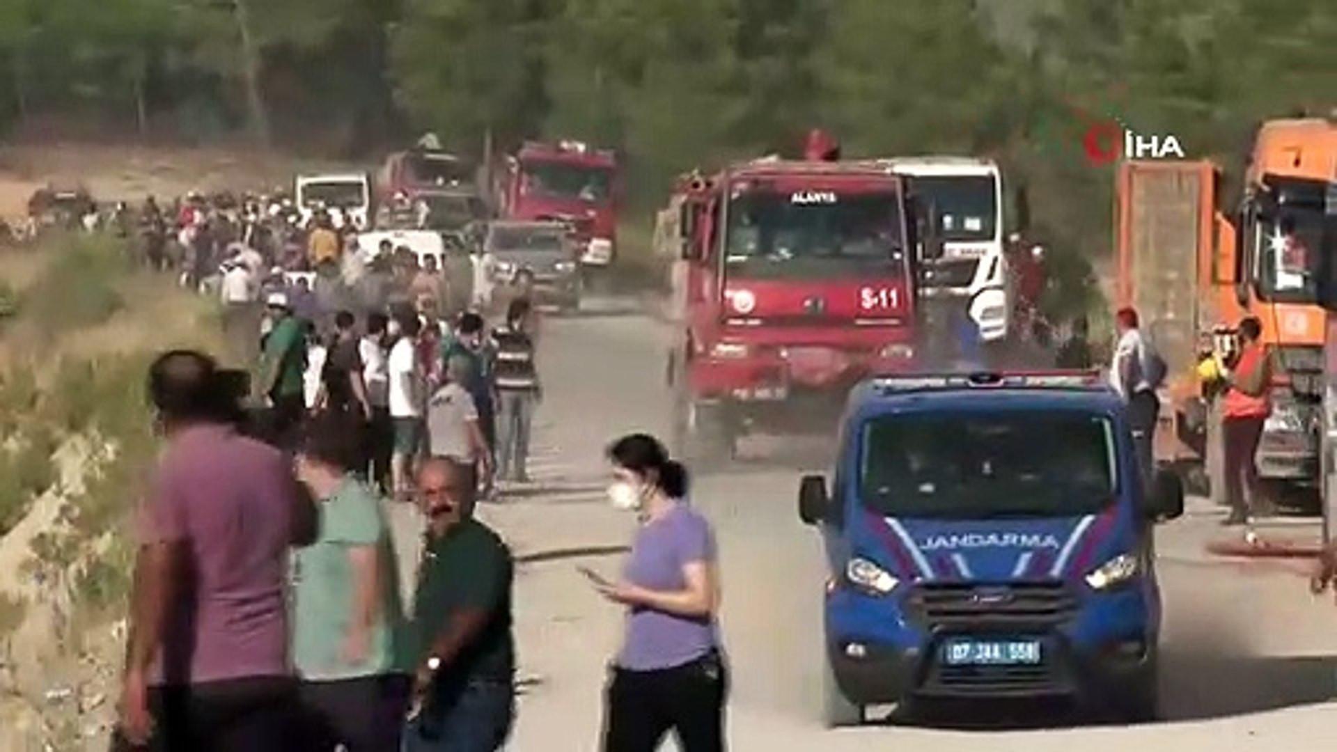 Alevlerin arasında kalan vatandaşların acı çığlığı!