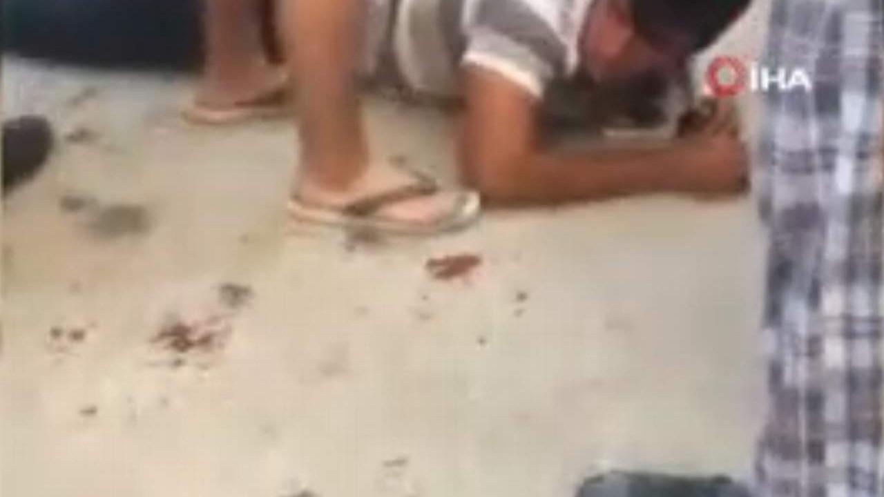 Kız çocuğuna saldıran hırsıza meydan dayağı kamerada