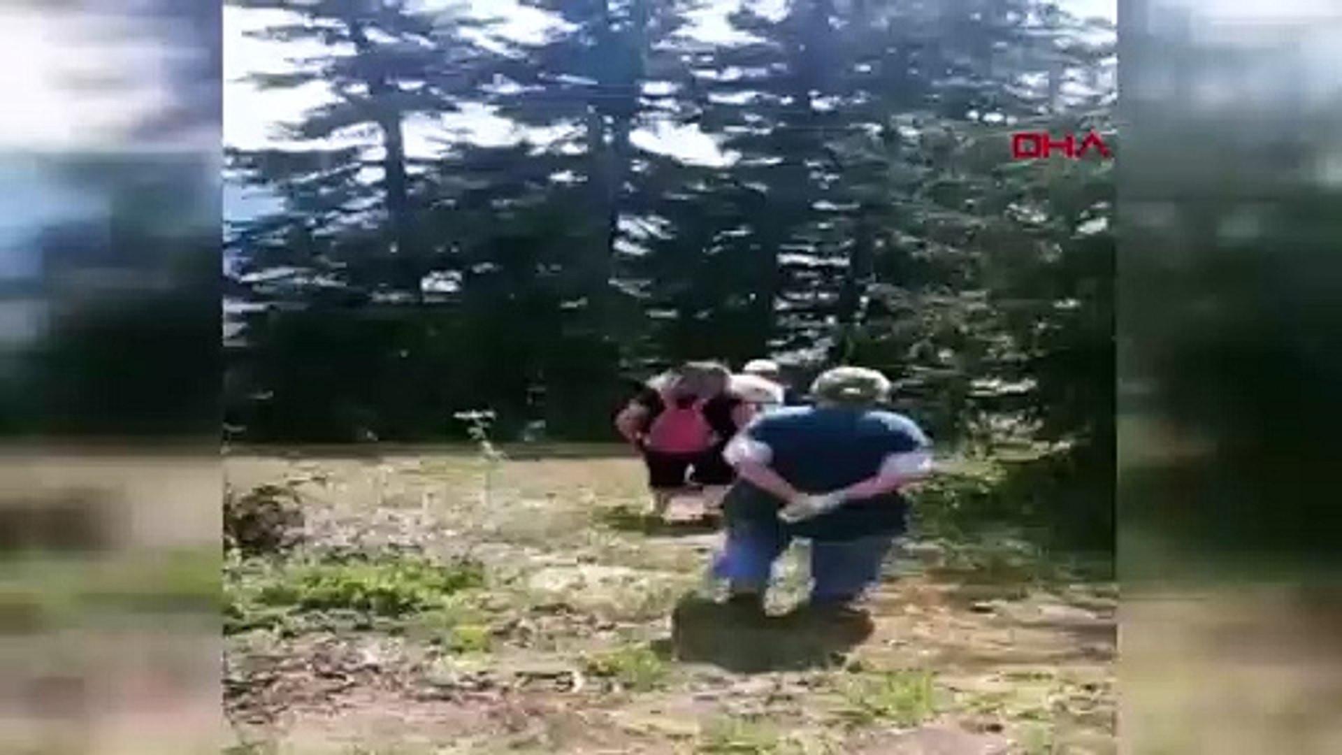 Kayınvalidesinin uçurumdan uçuşunu böyle çekti! Korkunç ölüm