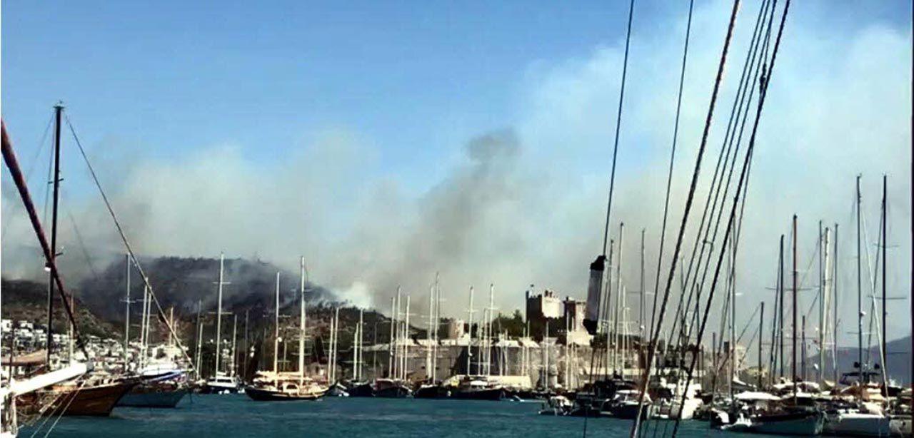Bodrum'da yangın kontrol altına alındı - Resim: 2