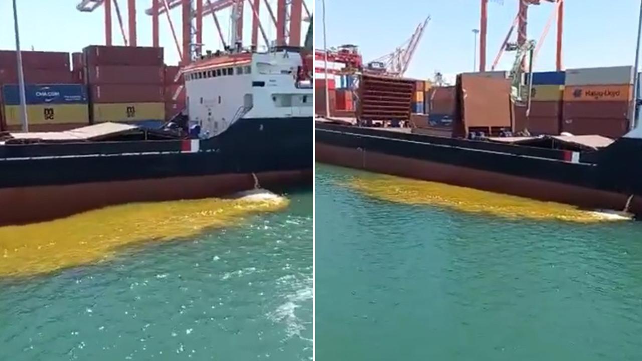 Mersin Limanı'nda skandal görüntüler