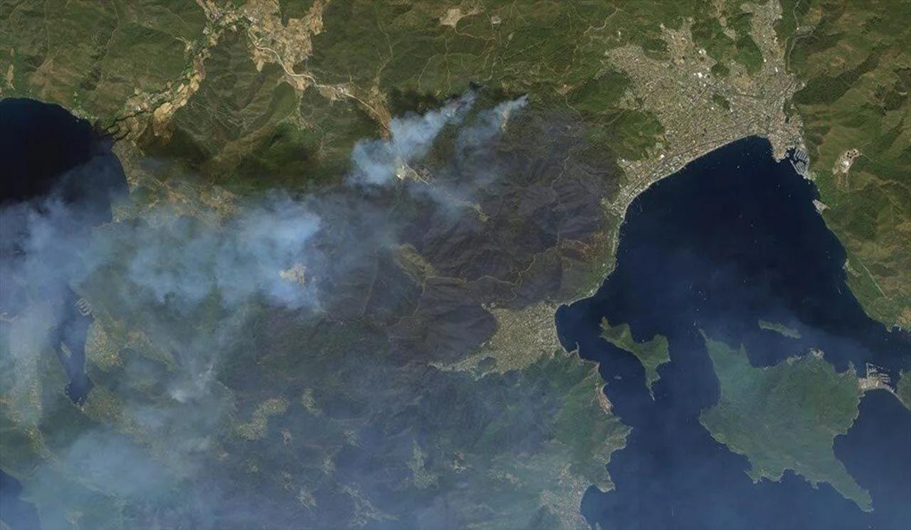 Felaketi en iyi anlatan fotoğraf: Orman yangınları uzaydan görüntülendi - Resim: 1