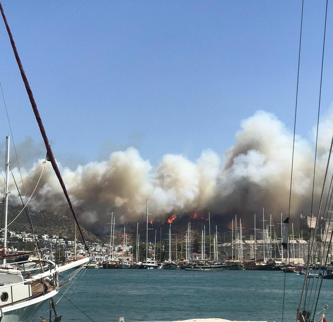 Bodrum'da yangın kontrol altına alındı - Resim: 1