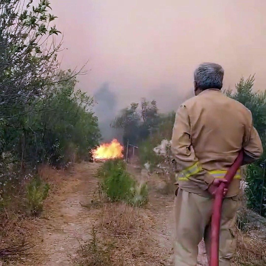 Yangın şehidinin son görüntüleri ortaya çıktı