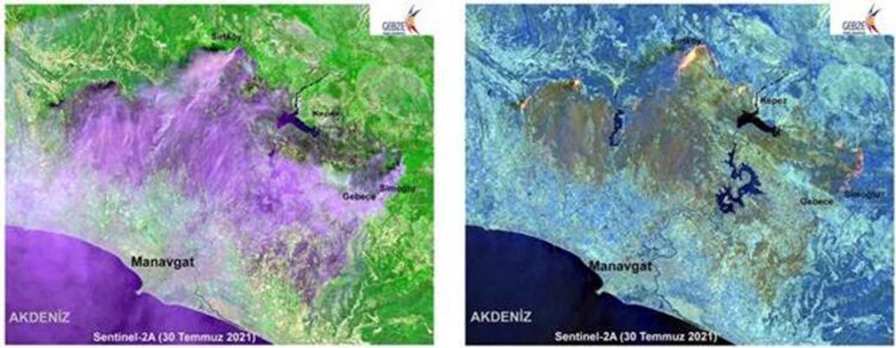 Manavgat'ı küle çeviren yangının haritası çıkarıldı - Resim: 2