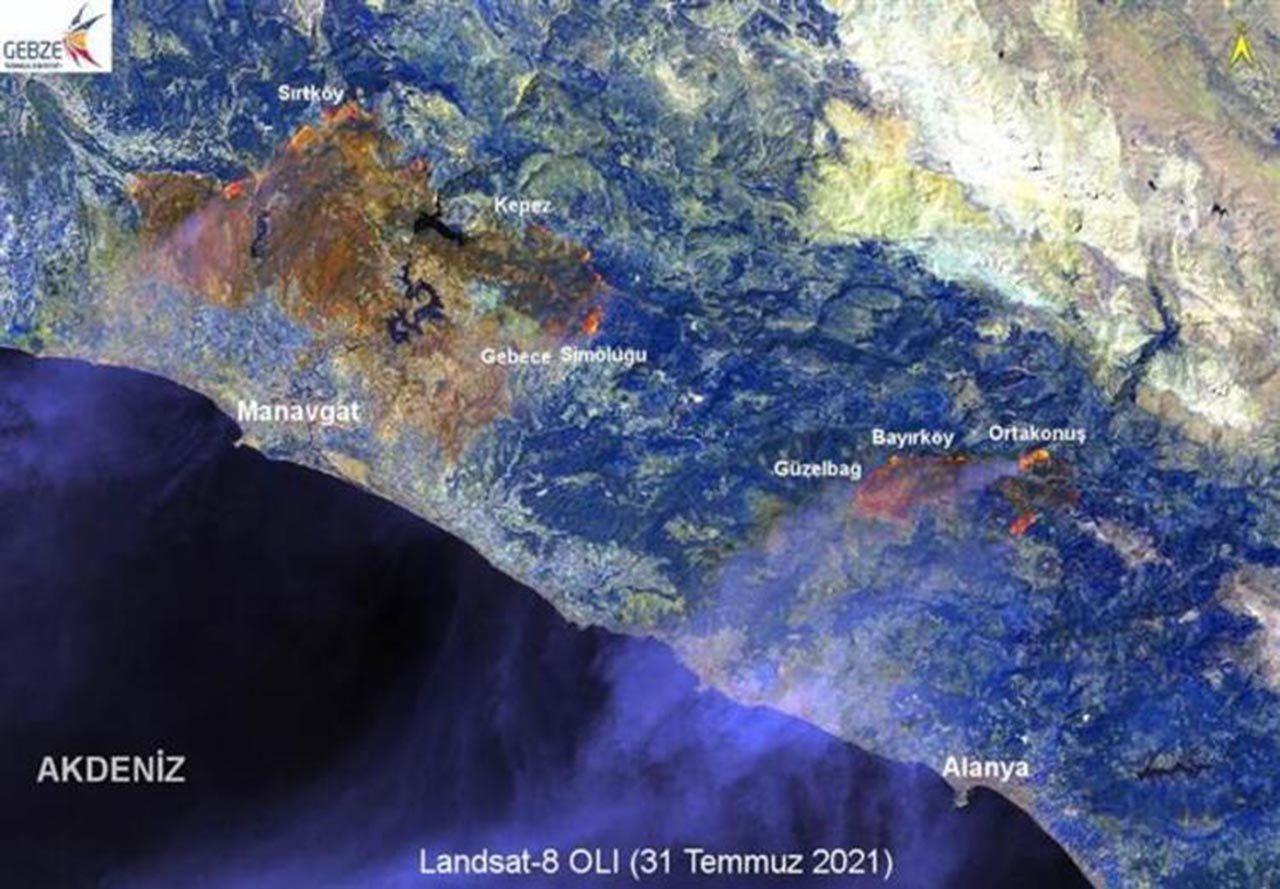 Manavgat'ı küle çeviren yangının haritası çıkarıldı - Resim: 3