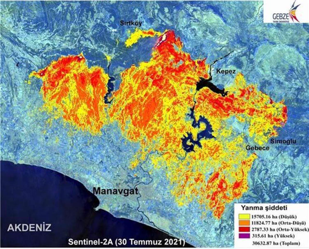 Manavgat'ı küle çeviren yangının haritası çıkarıldı - Resim: 4
