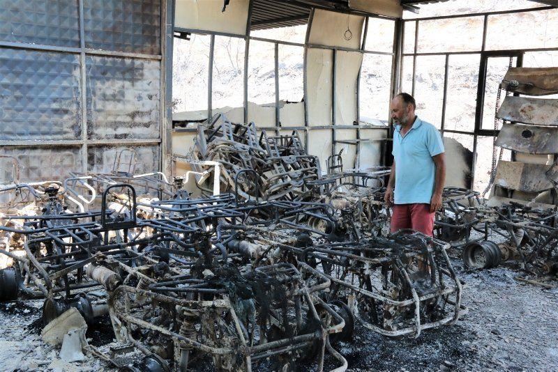 Manavgat'taki yangında dehşete düşüren sözler: ''200 metre alev topunun içinde kaldık'' - Resim: 4