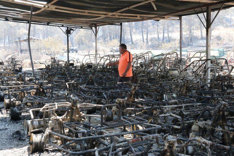 Manavgat'taki yangında dehşete düşüren sözler: ''200 metre alev topunun içinde kaldık'' - Resim: 3