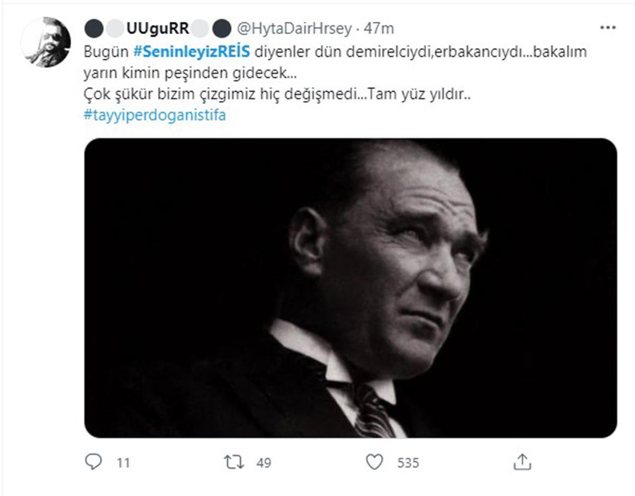 Twitter'daki Erdoğan kampanyasında Atatürk sürprizi - Resim: 2
