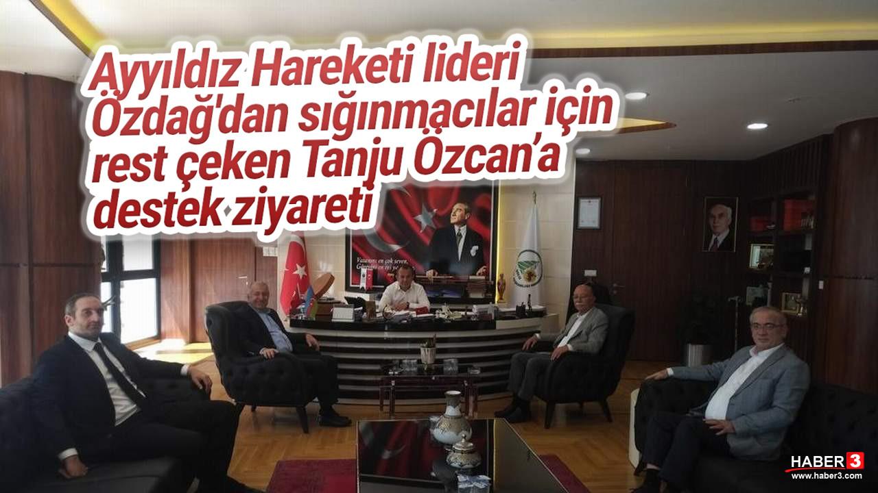 Ümit Özdağ'dan Bolu Belediye Başkanı Özcan'a destek ziyareti
