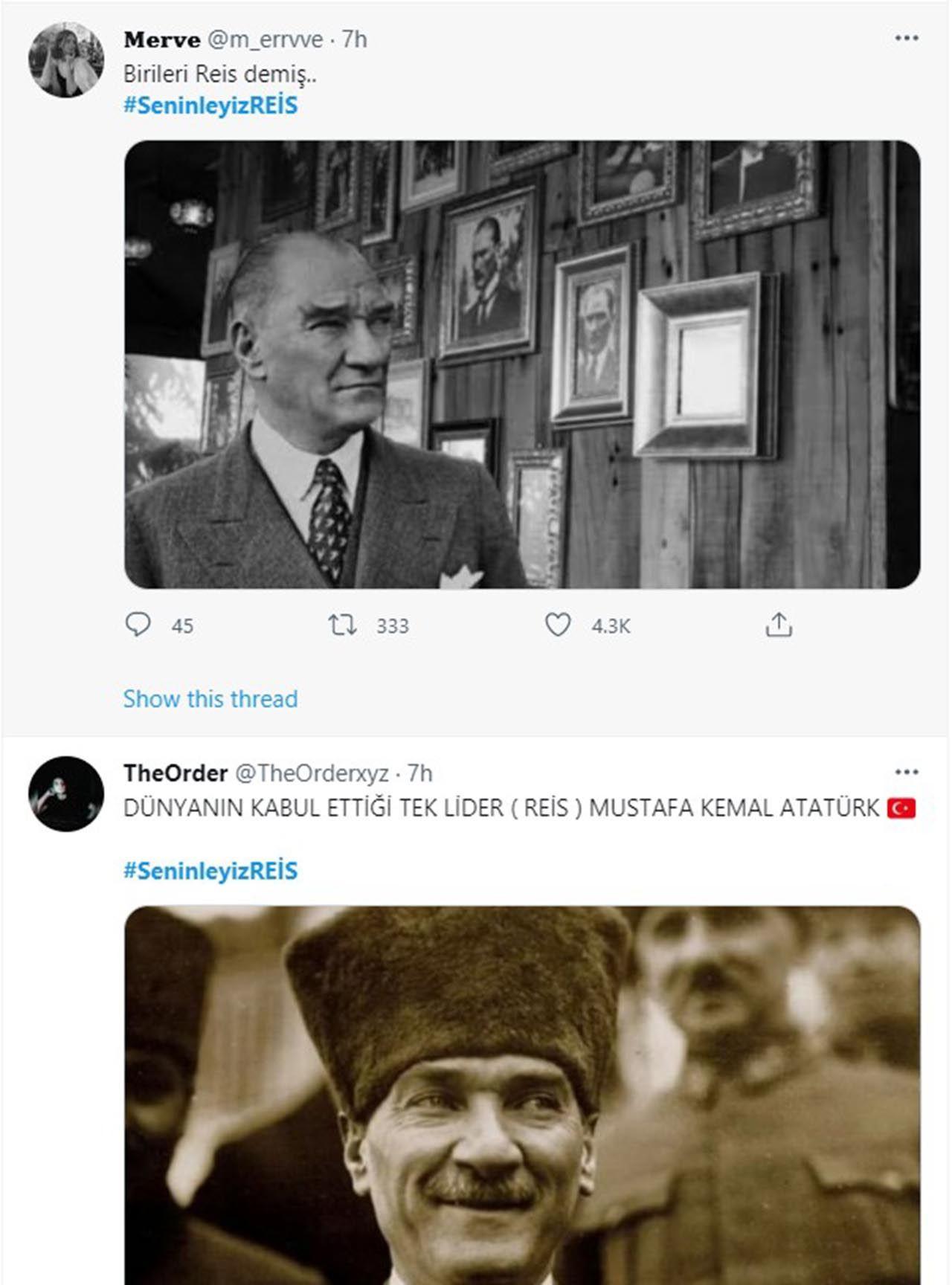 Twitter'daki Erdoğan kampanyasında Atatürk sürprizi - Resim: 3