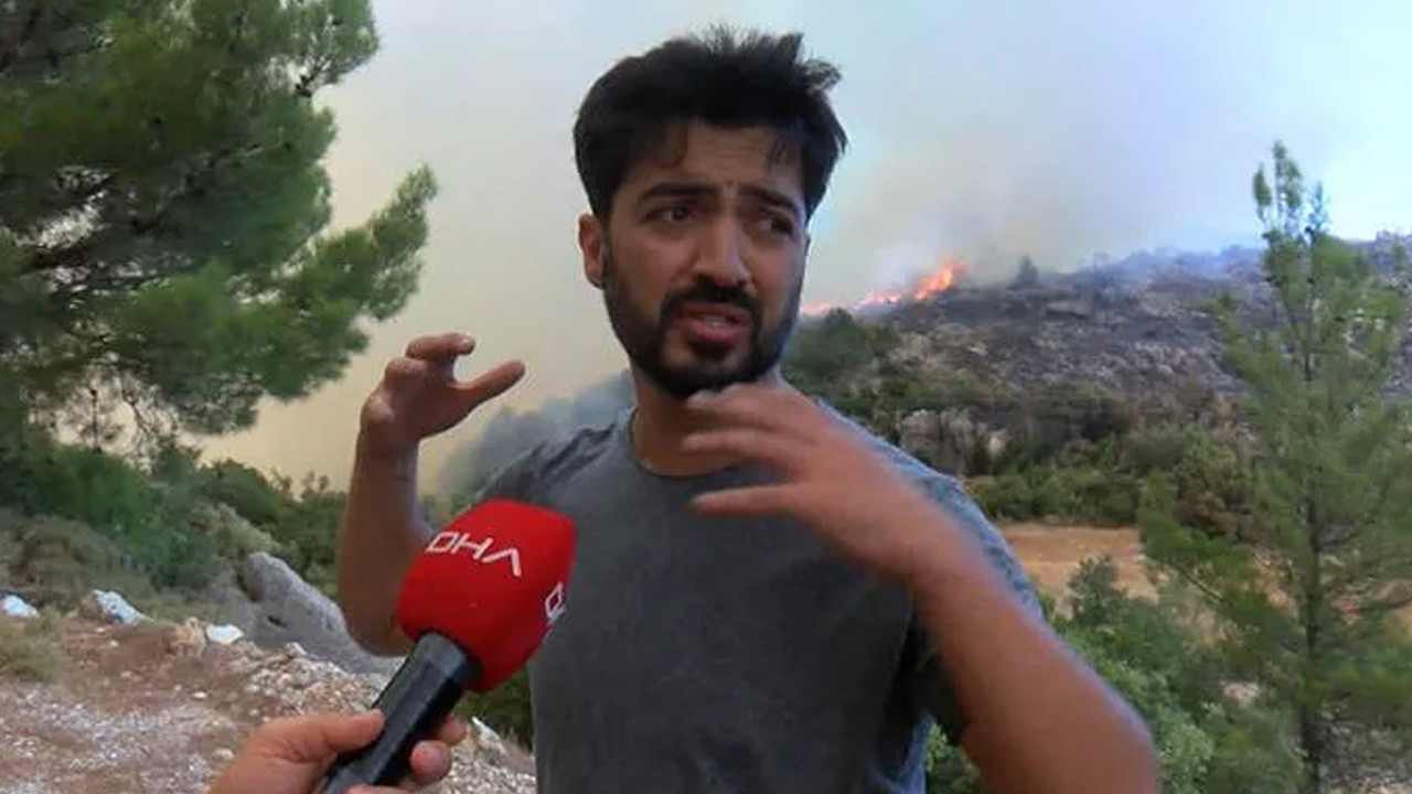 Yangın bölgesinde havaya ateş açan Yusuf Güney'den ilk açıklama