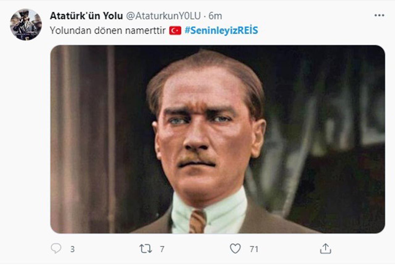 Twitter'daki Erdoğan kampanyasında Atatürk sürprizi - Resim: 4