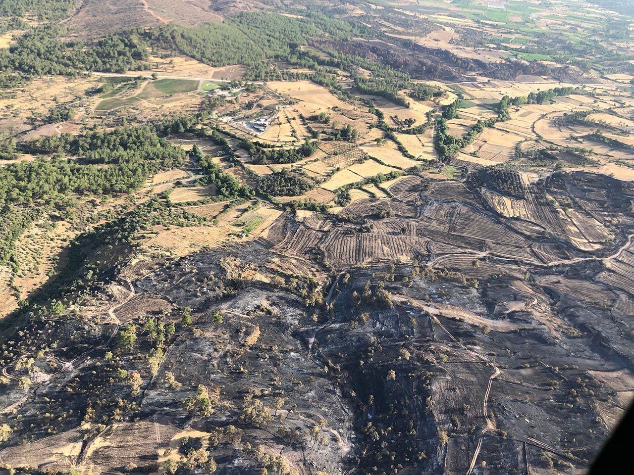 Bodrum ve Milas'tan kahreden görüntüler: Yanan alanlar havadan görüntülendi - Resim: 4