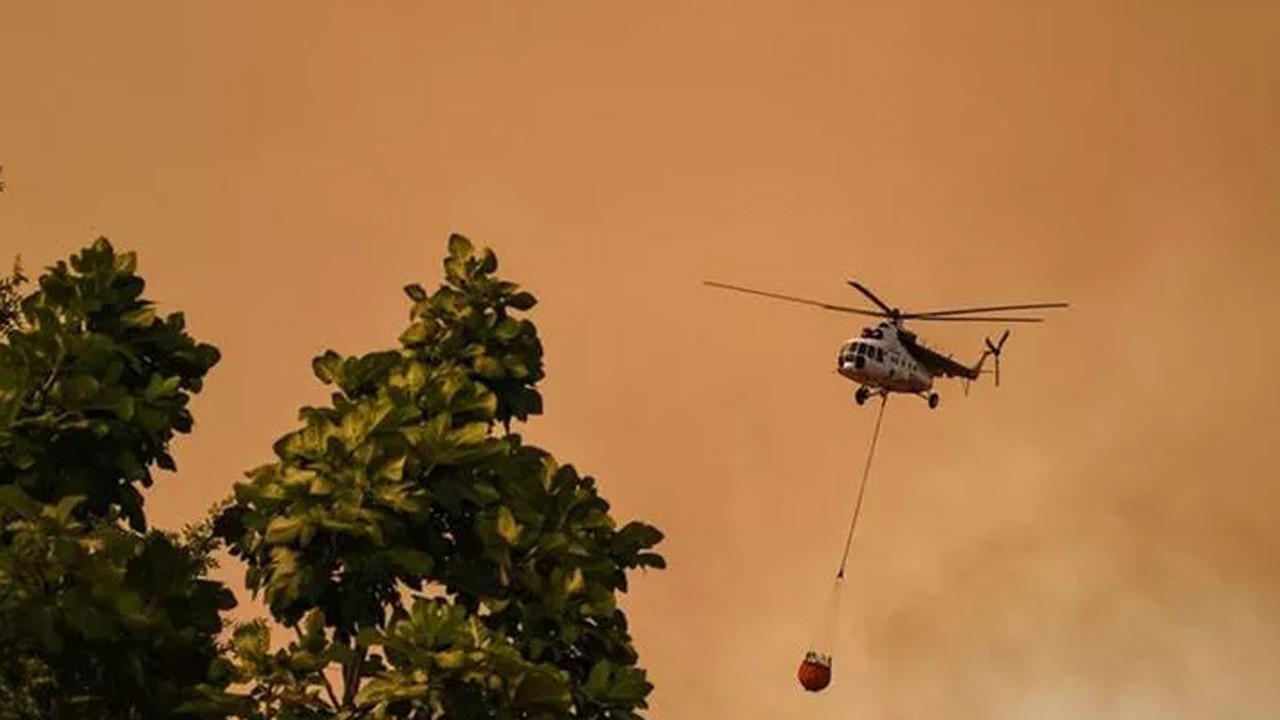 Yangın söndürme helikopteri düştü iddiası: Resmi açıklama geldi