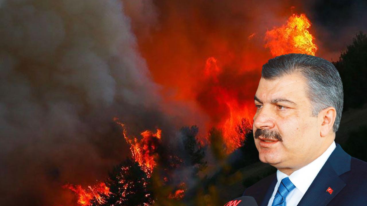 Yangın bölgesinden kötü haberi Bakan koca verdi