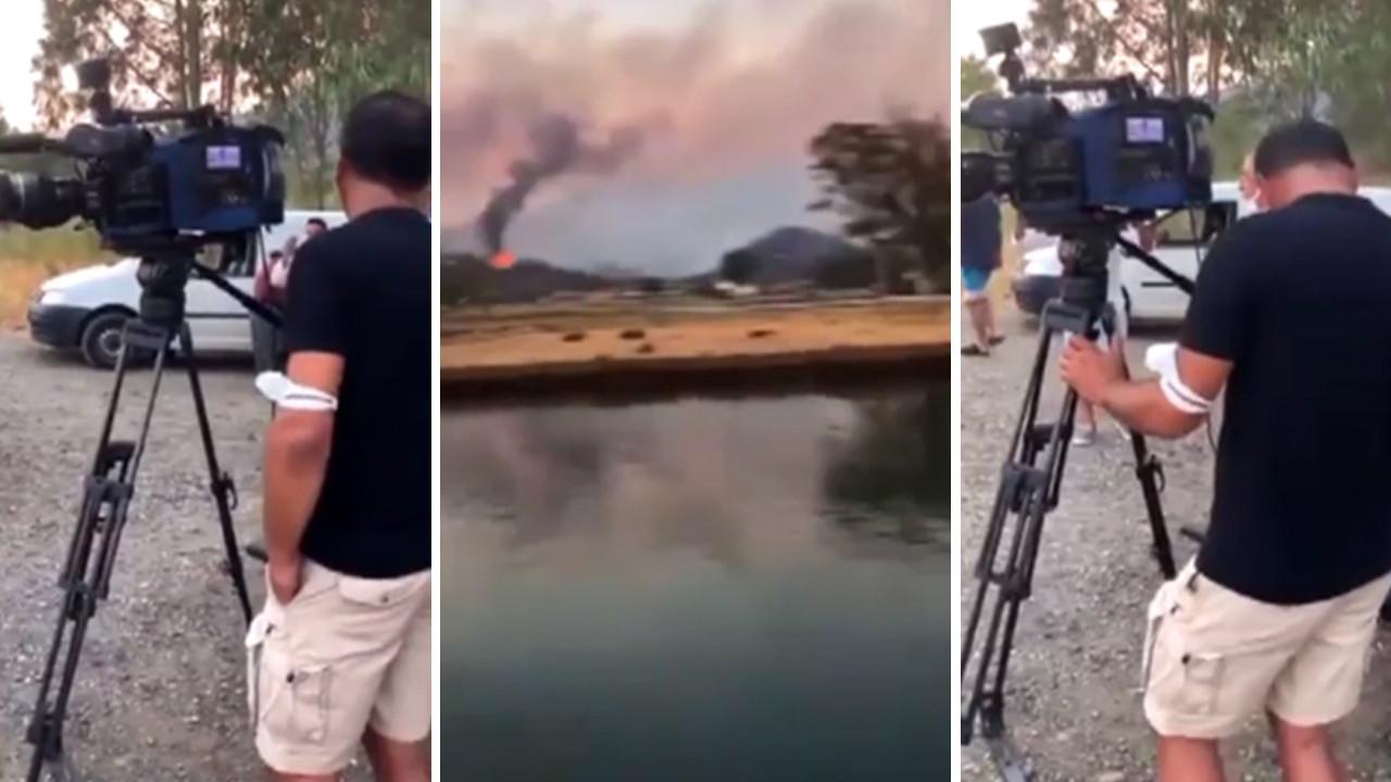 Orman yangını bölgesinde bir yandaş kanala daha tepki