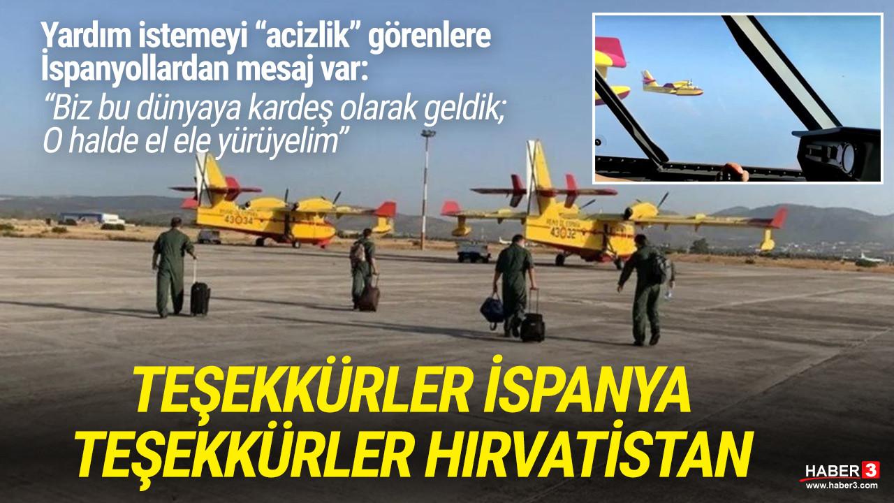 İspanyol ve Hırvat pilotlar Türkiye'de: İşte ilk görüntüler