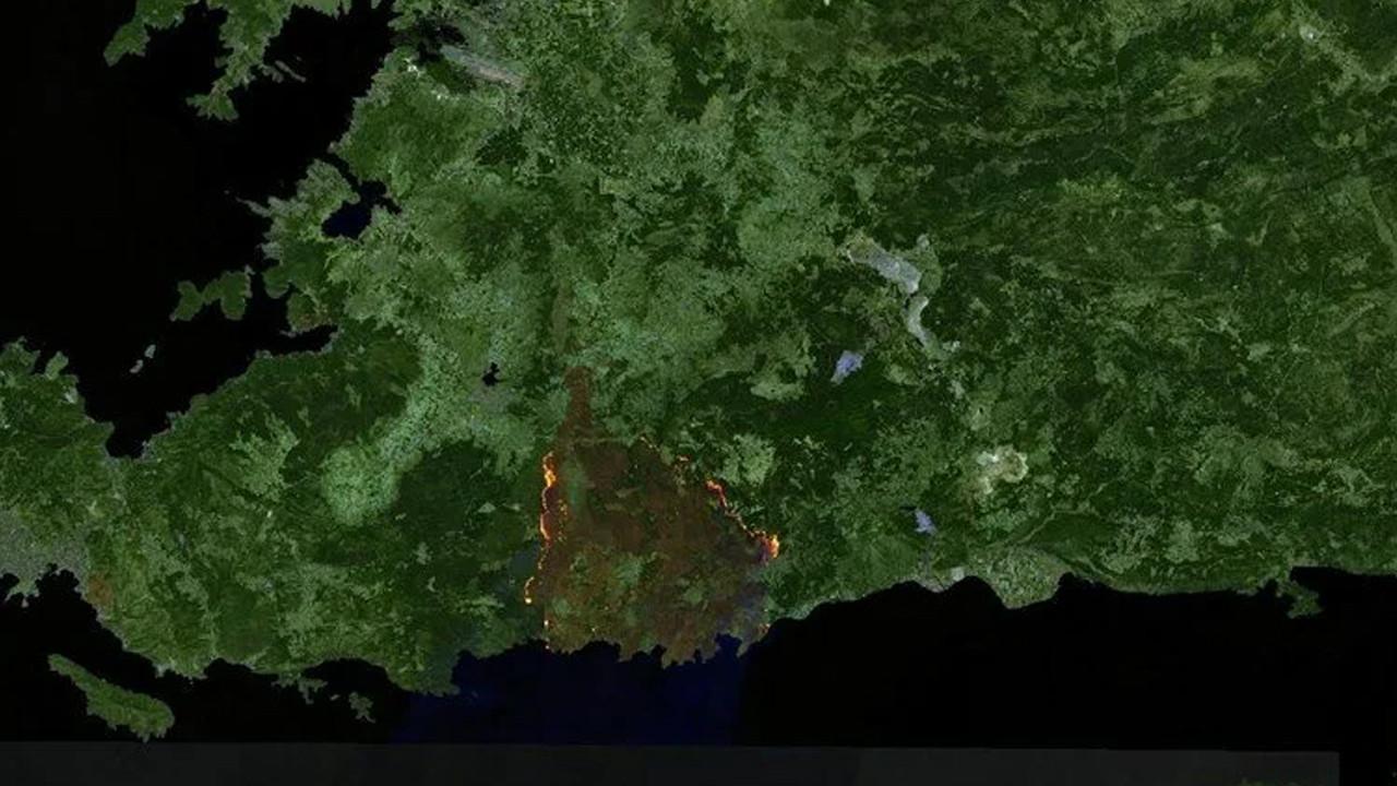 Kahrolduk! Orman yangınları uzaydan görüntülendi