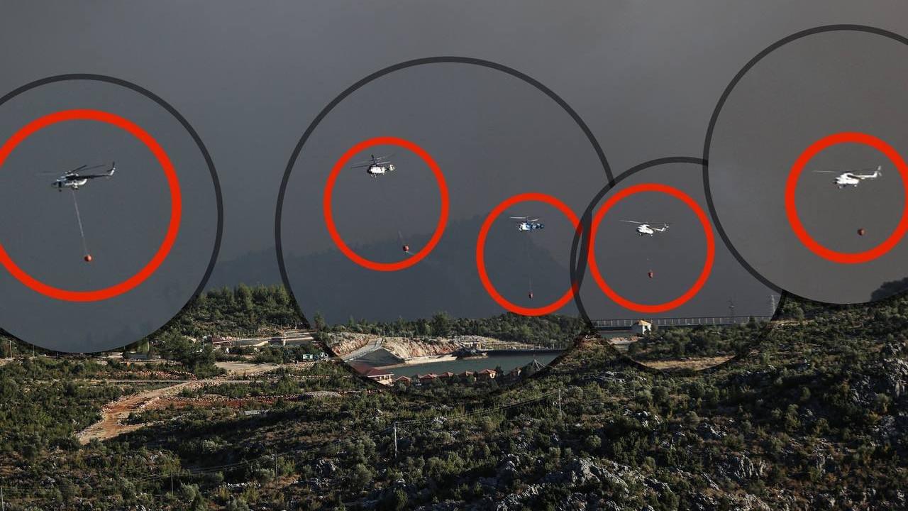 Fahrettin Altun'un paylaştığı 5 helikopterli fotoğraf bakın nerede çekilmiş