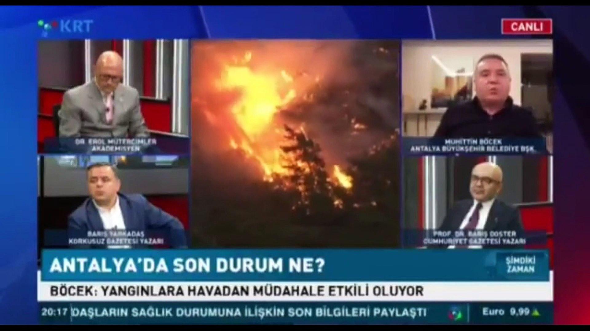 Canlı yayında olay olacak yangın söndürme helikopteri iddiası