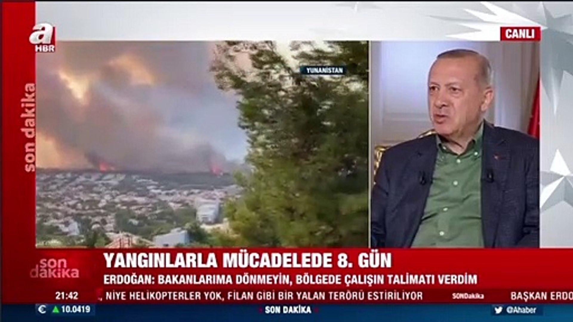 Erdoğan: Yerleşim bölgelerindeki yangın büyükşehir belediyelerinin sorumluluğundadır