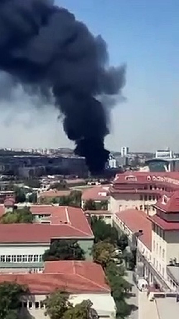 Ankara- Ankara'da korkutan yangın! Dumanlar Anıtkabir'den görüldü