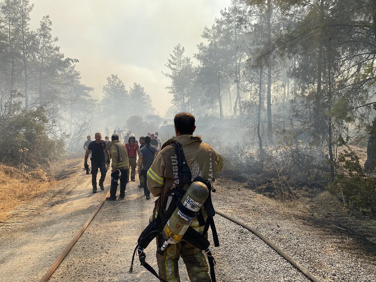 Orman yangınlarıyla mücadele sürüyor... Türkiye bu fotoğrafı konuşacak! - Resim: 4