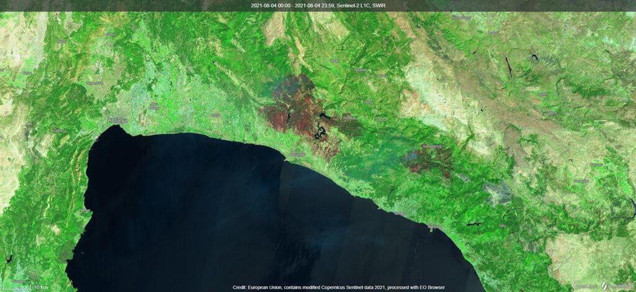 Kahrolduk! Orman yangınları uzaydan görüntülendi - Resim: 3