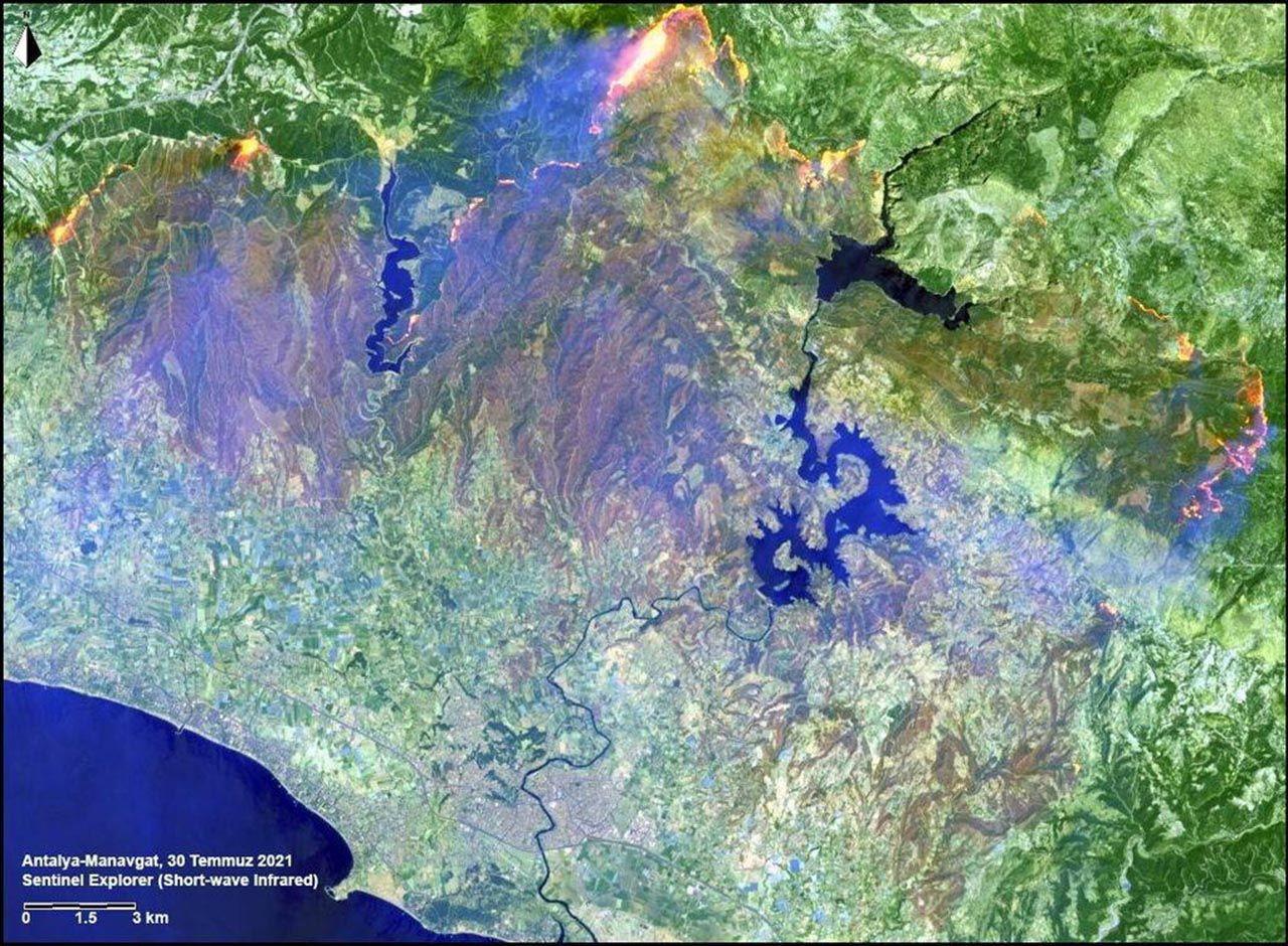 Kahrolduk! Orman yangınları uzaydan görüntülendi - Resim: 2