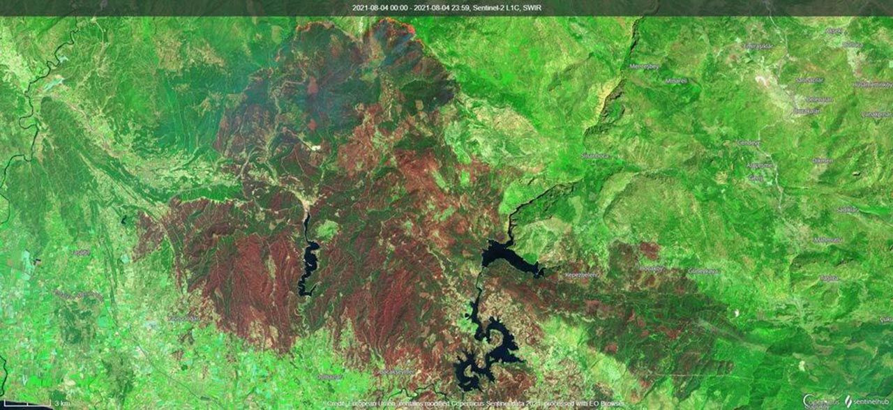 Kahrolduk! Orman yangınları uzaydan görüntülendi - Resim: 1