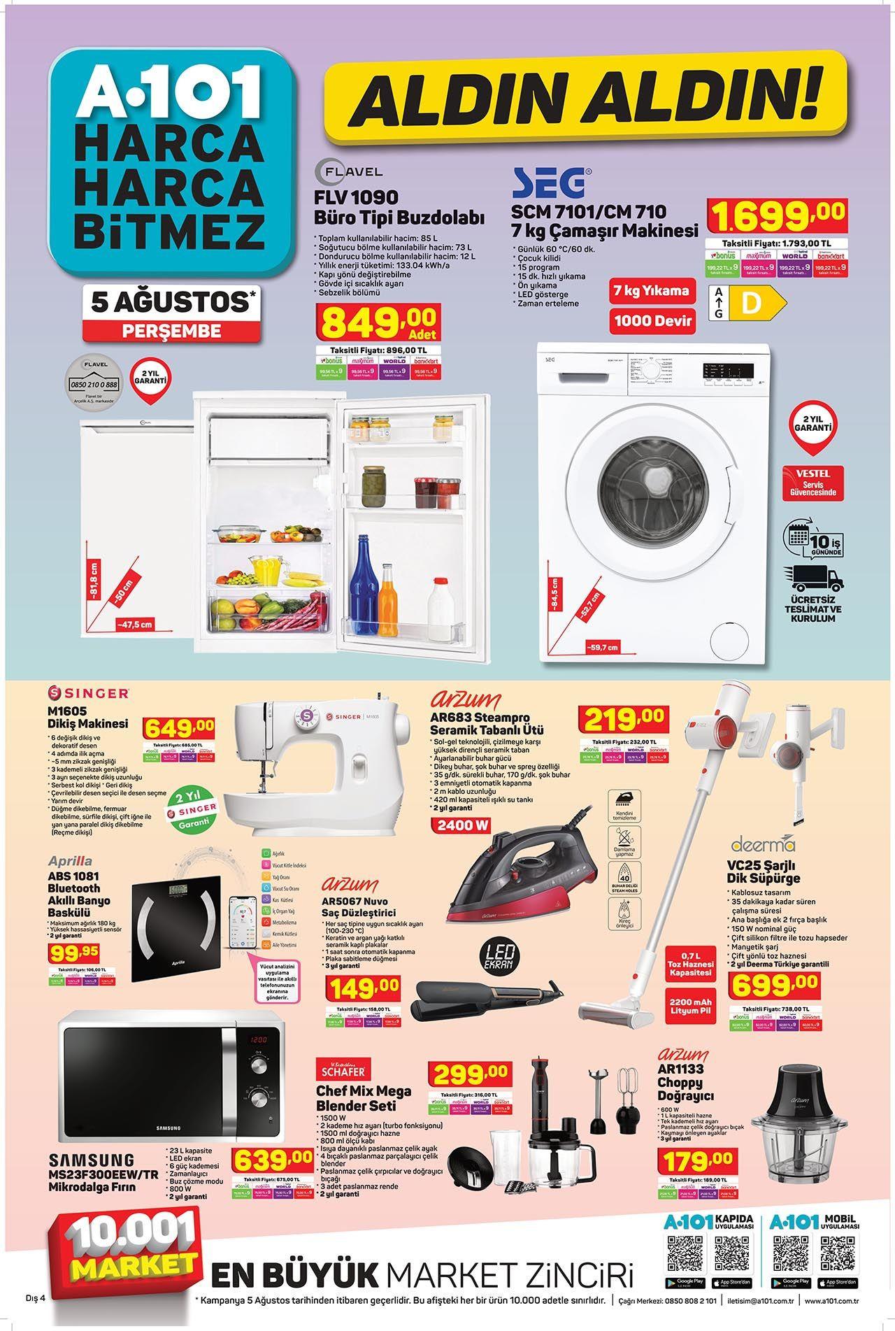 A101 5 Ağustos Perşembe aktüel ürünler kataloğu - Resim: 3