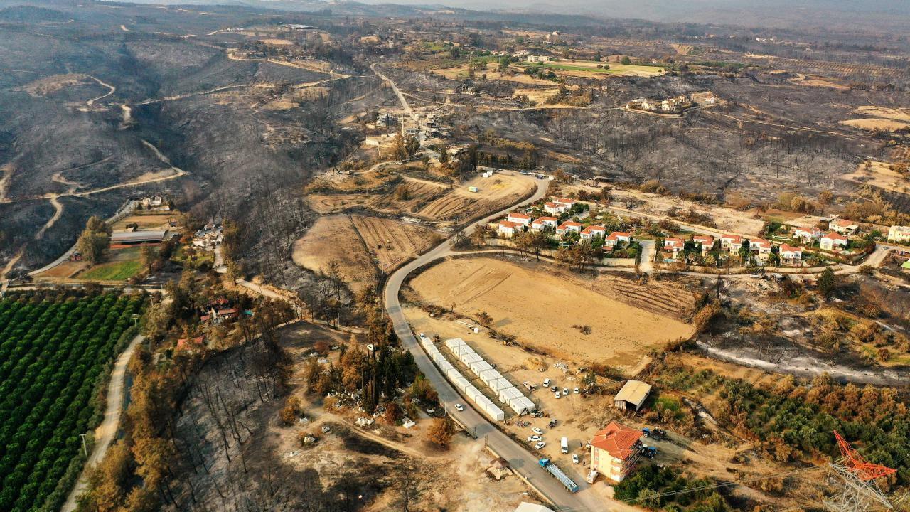 Cennetten konteynere... Orman yangınlarında evi yananlar burada kalacak