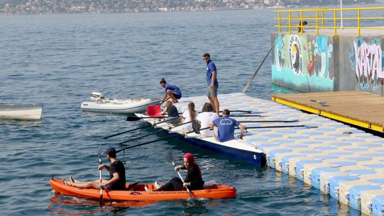 Kartal Belediyesi'nin Dragos Su Sporları Merkezi her ay 200'ün üzerinde vatandaşı ağırlıyor