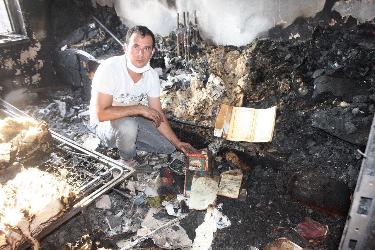 Yangında küle dönen evde bir tek Kur'an-ı Kerimler yanmadı - Resim: 2