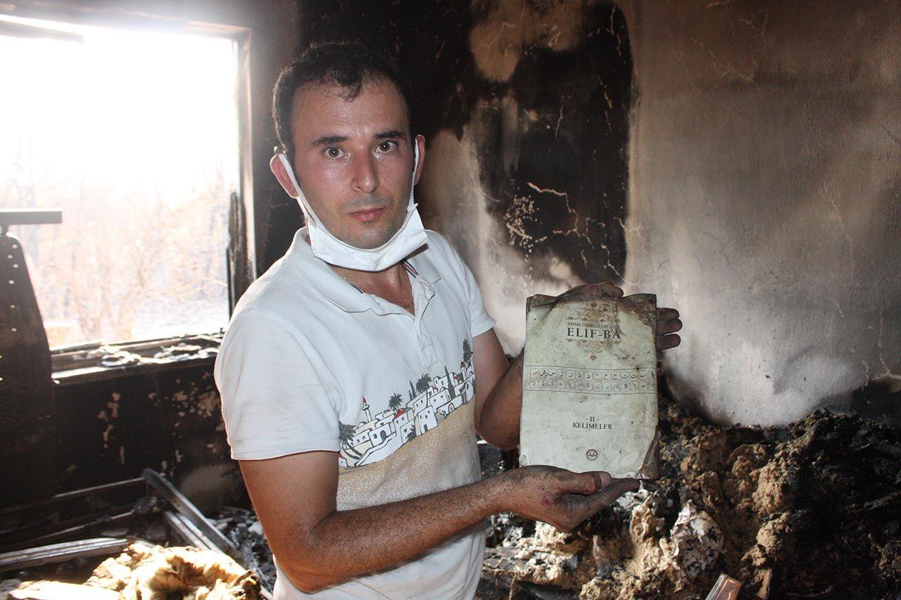 Yangında küle dönen evde bir tek Kur'an-ı Kerimler yanmadı - Resim: 3
