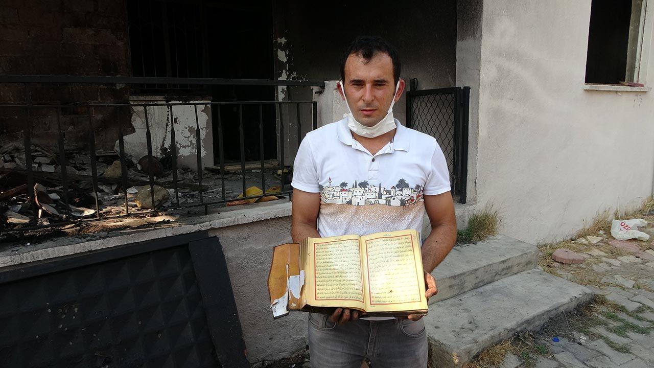 Yangında küle dönen evde bir tek Kur'an-ı Kerimler yanmadı - Resim: 4