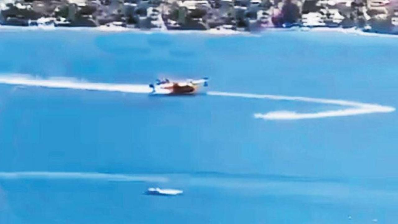 Yangın söndürme uçağını engelleyen jetski hakkında soruşturma