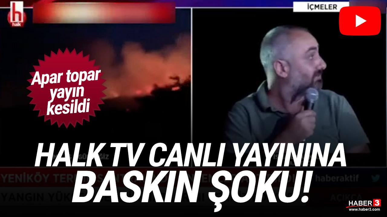 Halk TV ekibine saldırı şoku: Canlı yayını bastılar