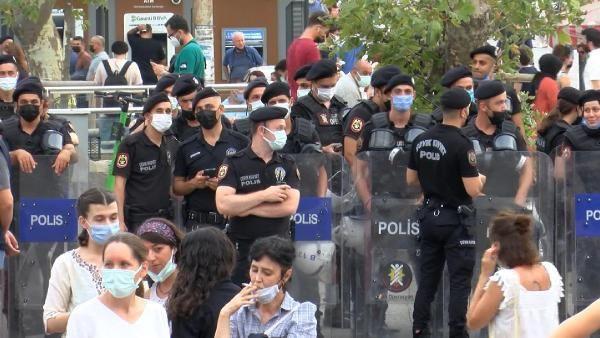 İstanbul'da kadınlardan kadın cinayetleri eylemi