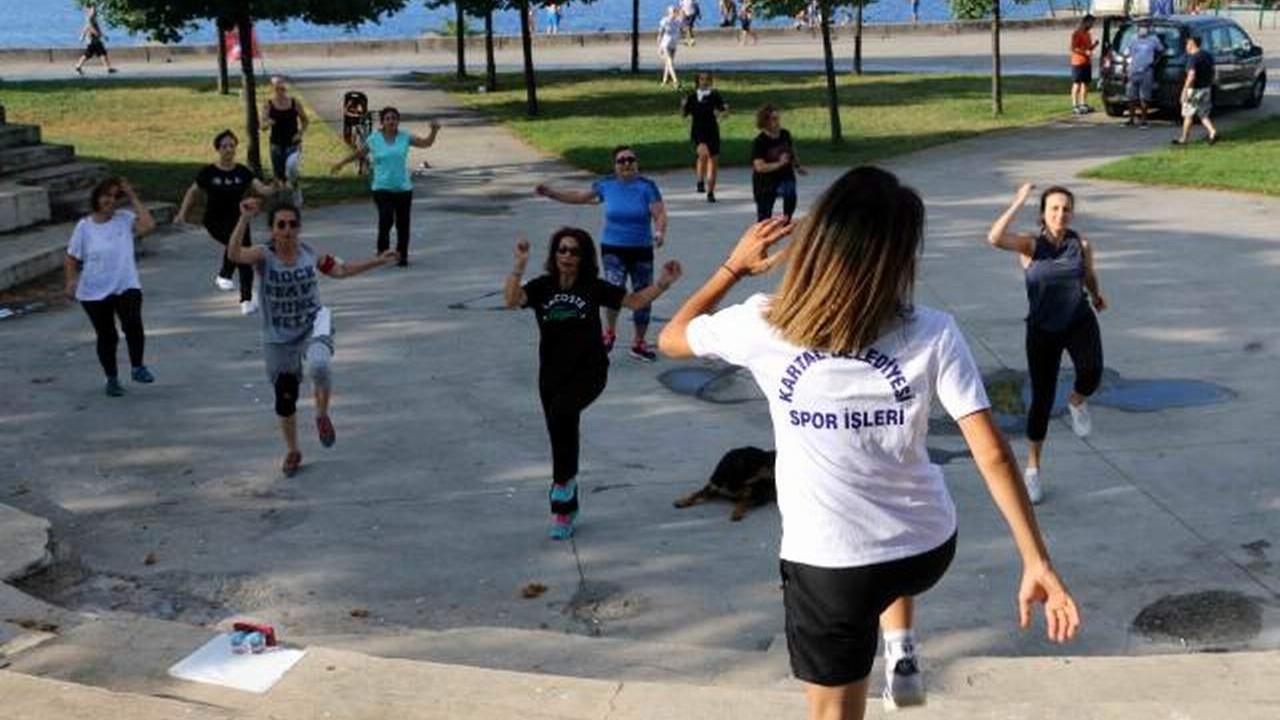 Kartallılar hafta sonu spor yapıyor