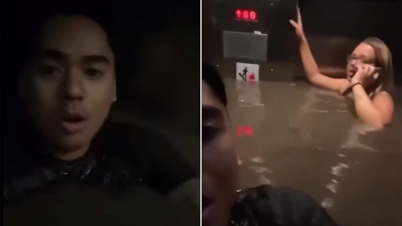 Asansörde ölüm kalım savaşı kamerada! İnanılmaz görüntüler