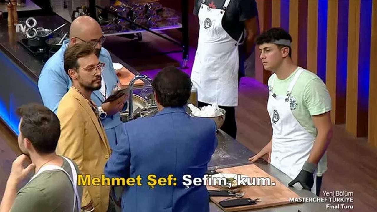 Mehmet Şef MasterChef'te o yarışmacıyı yakaladı, stüdyo gözyaşlarına boğuldu