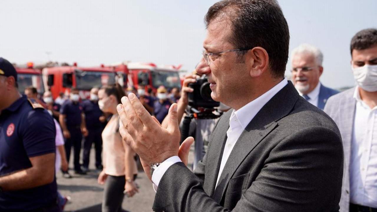 İmamoğlu kahraman itfaiyecileri Yenikapı'da karşıladı