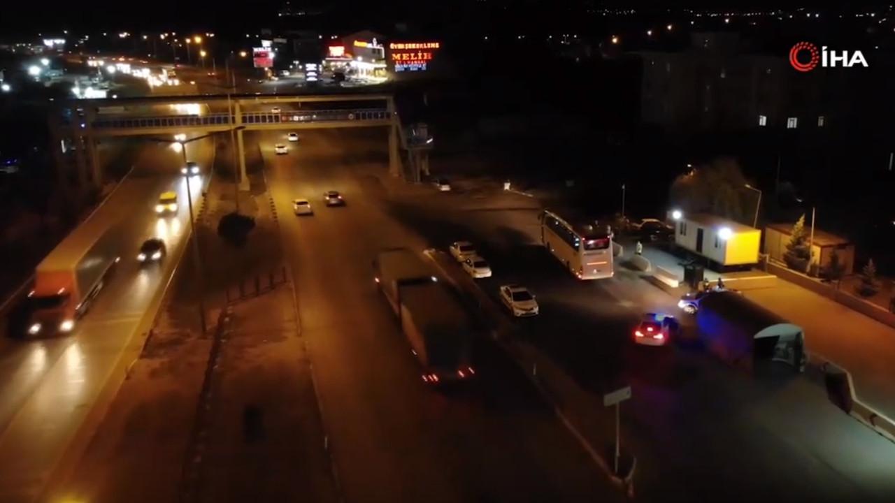 43 ilin geçiş güzergâhında gece yarısı yolcu otobüsü denetimi