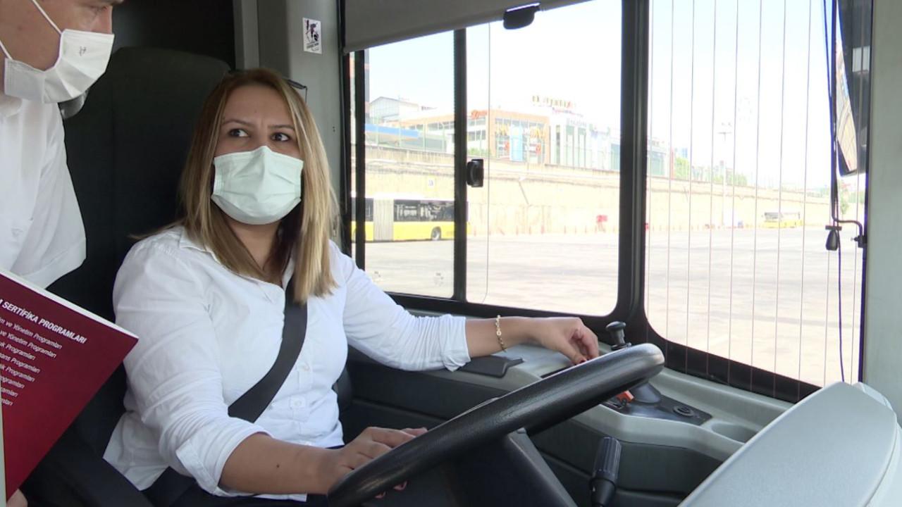 İETT'de 25 kadın şoför daha direksiyon başında