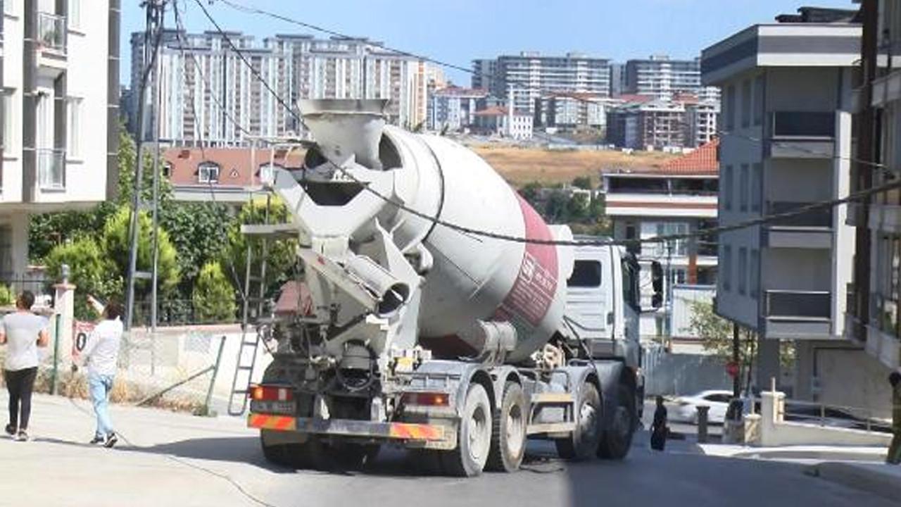 İstanbul'da beton mikseri paniği