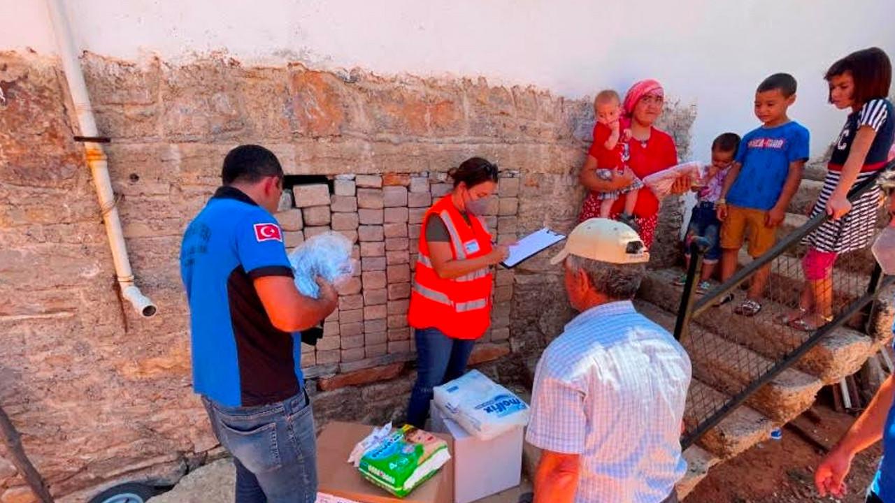 Bodrum'da yangından etkilenenlere acil ihtiyaç paketi